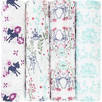 Aden + Anais Disney Bambi Baby Swaddle Blanket, Pack of 4
