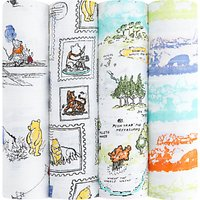 Aden + Anais Disney Winnie The Pooh Baby Swaddle Blanket, Pack of 4