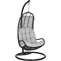 John Lewis Dakara (Fusion) Cabana Hanging Pod Chair, Black