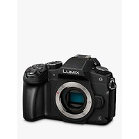 "Panasonic Lumix DMC-G80EB-K Compact System Camera, 4K Ultra HD, 16MP, Wi-Fi, OLED Live Viewfinder, 3"" LCD Vari-Angle Touch Screen, Body Only, Black"
