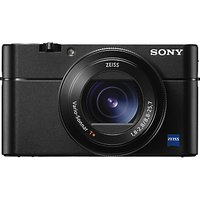 Sony Cyber-shot RX-100 V Camera, 4K, 20.1MP, 2.9x Optical Zoom, Wi-Fi, NFC, OLED EVF, 3 Tiltable Screen