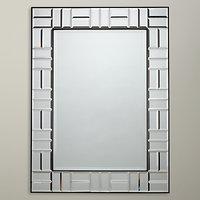John Lewis Deco Blocks Mirror, Clear