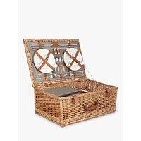 John Lewis Croft Collection 4 Person Luxury Wicker Picnic Hamper