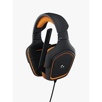Logitech G231 Prodigy Gaming Headphones, Black/Orange