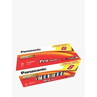 Panasonic Pro Power LR20 Alkaline D Battery, Pack of 8