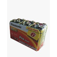 Panasonic Pro Power Alkaline 9V Battery, Pack of 6