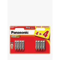 Panasonic Pro Power Alkaline AAA Batteries, Pack of 4 + 4 for Free