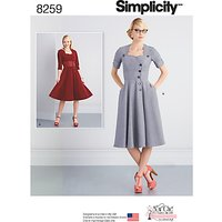 Simplicity Misses Sew Chic Button Front Dresses Sewing Pattern, 8259