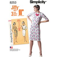 Simplicity Vintage Womens 1960s Jiffy Dresses Sewing Pattern, 8253