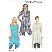 Vogue Womens Dress Sewing Pattern, 9224