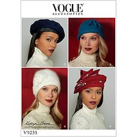 Vogue Women's Hat Sewing Pattern, 9235