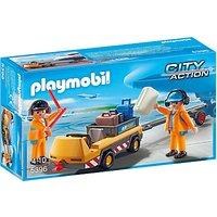 Playmobil City Action Aircraft Tug & Ground Crew