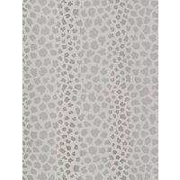 GP & J Baker Langdale Sundra Foil Wallpaper, Silver Bw45077.1