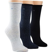 Calvin Klein Roll Top Crew Ankle Socks  Pack of 3
