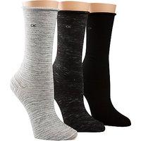 Calvin Klein Roll Top Crew Ankle Socks  Pack of 3