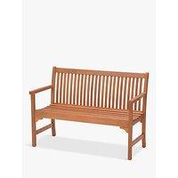 John Lewis & Partners Venice 2-Seater Bench, FSC-Certified (Eucalyptus), Natural