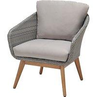 John Lewis & Partners Bergen Lounging Armchair, FSC-Certified (Eucalyptus), Grey