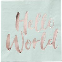 Ginger Ray Hello World Napkins, Pack of 20