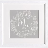Letterfest Personalised Wedding Calligraphy Framed Print