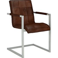 'John Lewis & Partners Classico Leather Office/dining Chair, Tan