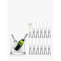 LSA International Moya Flutes and Champagne Bucket, Set of 12