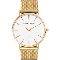abbott lyon unisex kensington 40 date mesh bracelet strap watch