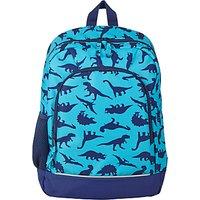 John Lewis Children's Dinosaur School Backpack, Blue