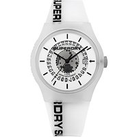 Superdry Unisex Urban Semi Opaque Date Silicone Strap Watch
