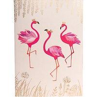 Sara Miller A5 Flamingo Notebook, Cream