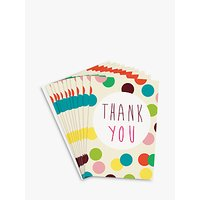 Caroline Gardner Dotty Thank You Notecards, Set Of 10