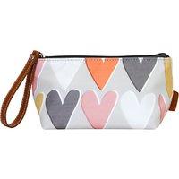 Caroline Gardner Hearts Cosmetic Bag, Small, Grey