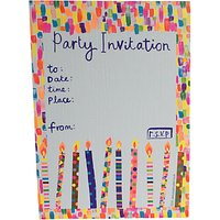 Paper Salad Neon Ink Party Invitations, Pack Of 6