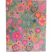 Paper Salad Floral Thank You Notecards, Pack Of 5