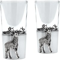 English Pewter Company Stag Shot Glasses, Set of 2