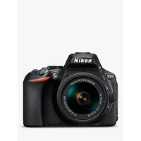 Nikon D5600 Digital SLR Camera with 18-55mm VR Lens, HD 1080p, 24.2MP, Wi-Fi, Optical Viewfinder, 3.