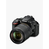 Nikon D5600 Digital SLR Camera with 18-140mm VR Lens, HD 1080p, 24.2MP, Wi-Fi, Optical Viewfinder, 3