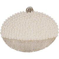 Chesca Pearl Diamante Clutch Bag, Ivory