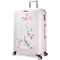 Ted Baker Oriental Blossom 79cm 4-Wheel Suitcase, Pink