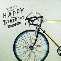 Carte Blanche Bicycle Birthday Card