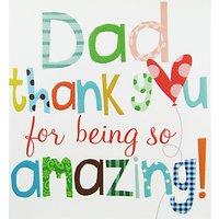 Caroline Gardner Dad Thank You Greeting Card