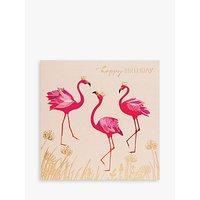 Sara Miller Birthday Flamingos Greeting Card