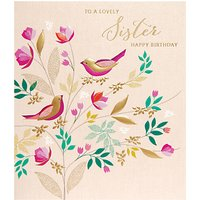 Art File Lovely Sister Happy Birthday Greeting Card