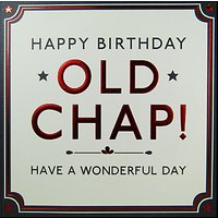 Hotchpotch Old Chap Birthday Card