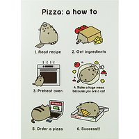 Pusheen Pizza How To Greeting Card