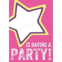 Dear Henry Pink Star Invitations, Pack Of 8