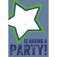 Dear Henry Blue Star Invitations, Pack Of 8
