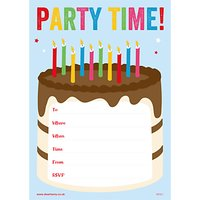 Dear Henry Party Time Invitations, Pack of 20