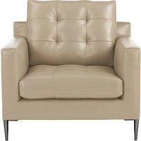 John Lewis Draper Leather Armchair, Metal Leg