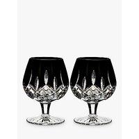 Waterford Black Cut Crystal Brandy Glass, Set of 2