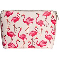 Sara Miller Flamingo Cosmetic Bag, Cream